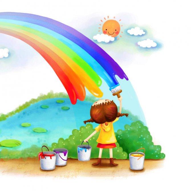 Радуга чувств - авторский игровой тренинг для детей 7-10 лет